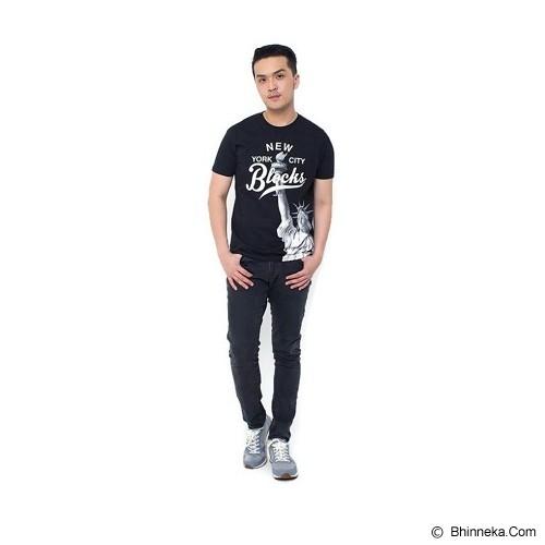 JINSHOUSE T Shirt NYC Blocks Size L [006-TS.003] - Black - Kaos Pria