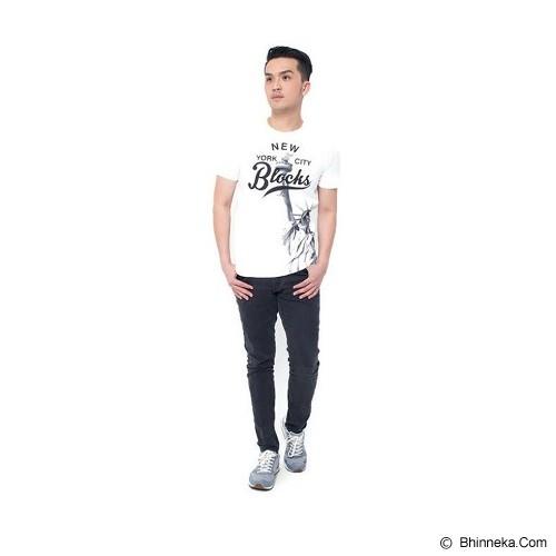 JINSHOUSE T Shirt NYC Blocks Size XL [006-TS.003] - White - Kaos Pria
