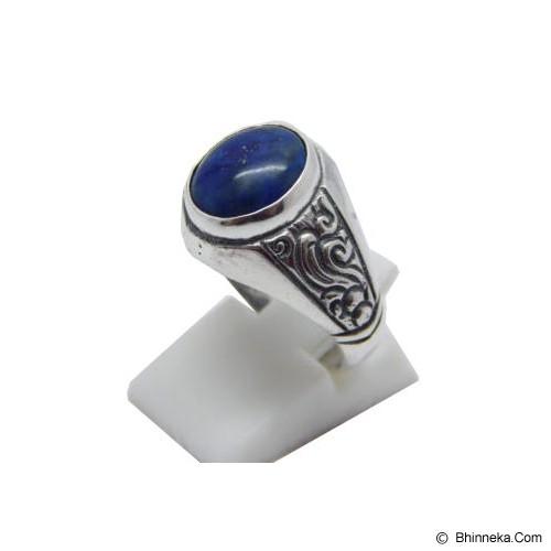 JNANACRAFTS Cincin Perak Batu Lapiz Lazuli [37603] - Cincin Pria