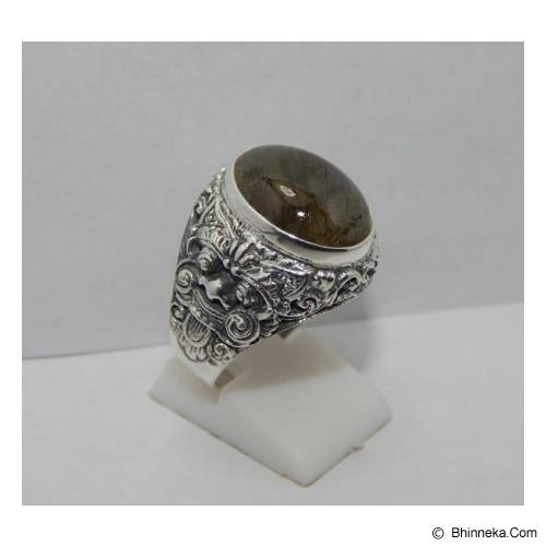 JNANACRAFTS Cincin Perak Motif Rangda Batu Labradorite [12682] - Cincin Pria