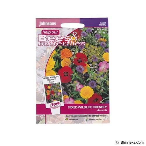 JOHNSONS SEED Mixed Wildlife Friendly Annuals - Bibit / Benih Tanaman Hias