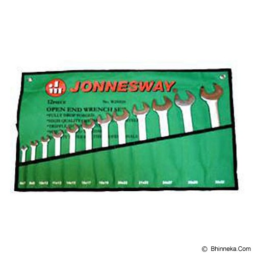 JONNESWAY Open End Wrench Set 12Pcs [W25112S] - Kunci Pas