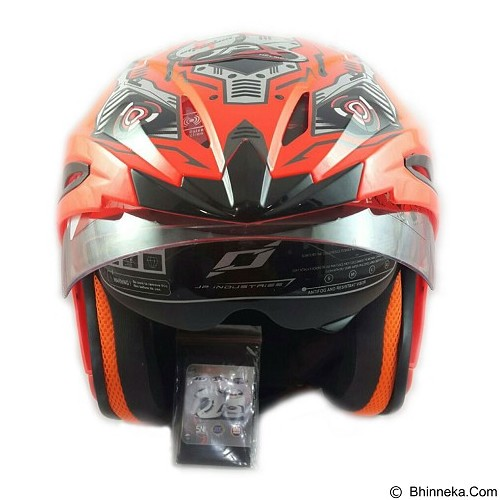 JPX Supreme Robot Fluorescent Size L - Red (Merchant) - Helm Motor Half Face