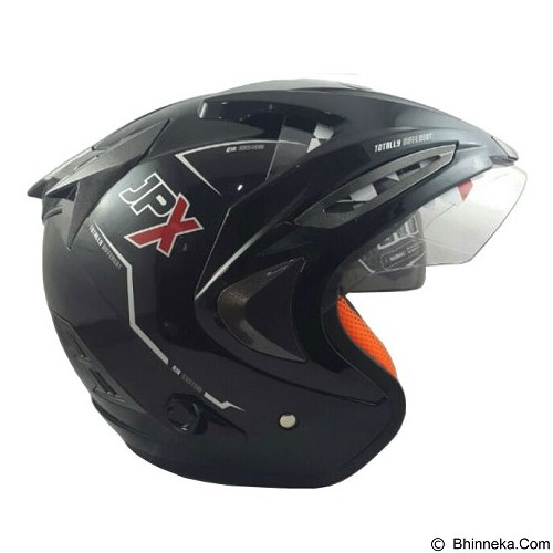 JPX Supreme Solid Size M - Black Metallic (Merchant) - Helm Motor Half Face