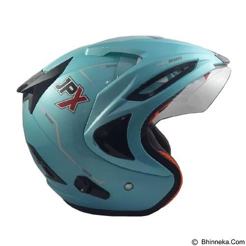 JPX Supreme Solid Size M - Ice Blue (Merchant) - Helm Motor Half Face