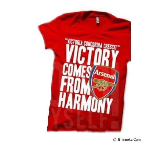 JURAGAN KAOS Quotes Arsenal Size XL - Red - Kaos Pria