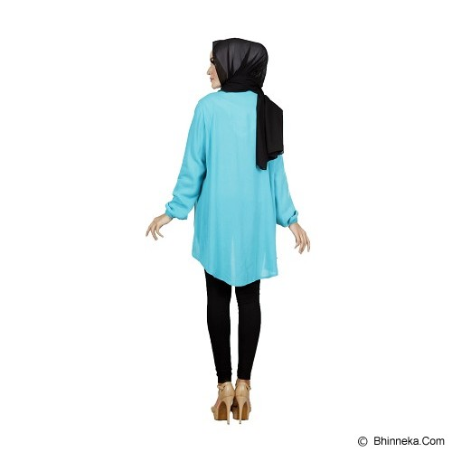KAMEELA MUSLIM Attaya Blouse - Blue - Blouse dan Tunik Wanita