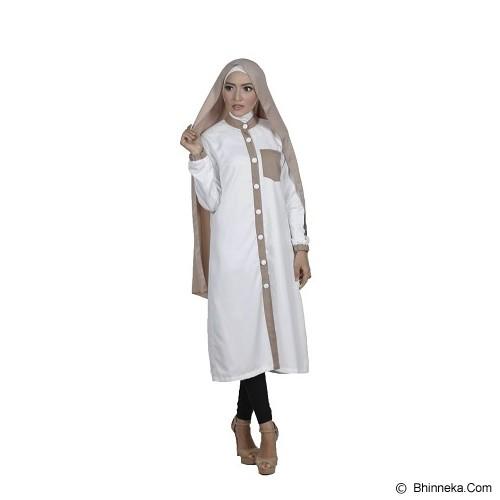 KAMEELA MUSLIM Rafa Tunik Off - White - Blouse dan Tunik Wanita