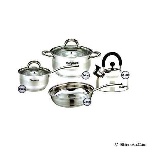 KANGAROO Inox Cookware Set [KG998] - Panci Set