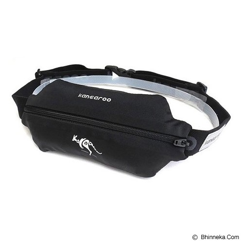 KANGAROO Runing Lycra Pounch [ASS337] - Black - Tas Pinggang / Travel Waist Bag