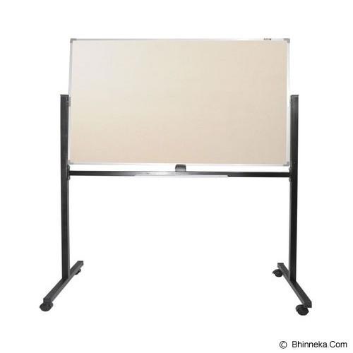 KEIKO Softboard Stand Polos 60x120 - Papan Tulis White Board