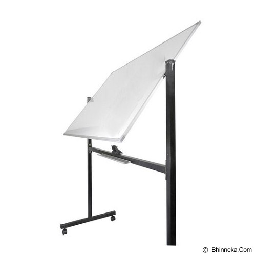 KEIKO WhiteBoard Double Face Stand 80x120 - Papan Tulis White Board