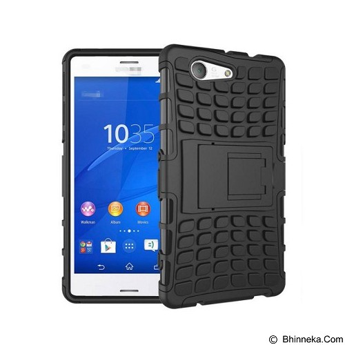 KIN Case Rugged Armor With KickStand For Sony Xperia Z3 - Black - Casing Handphone / Case