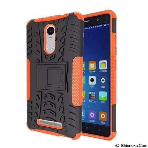 KIN Case Rugged Armor With KickStand For Xiaomi Redmi Note 3 - Orange - Casing Handphone / Case