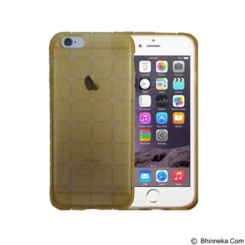 KIN Cube Ultra Thin Soft Case For Apple iPhone 5C - Gold - Casing Handphone / Case