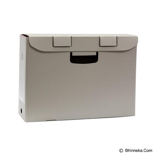 KING JIM Box File [4634 Ga-F] - Grey - Box File