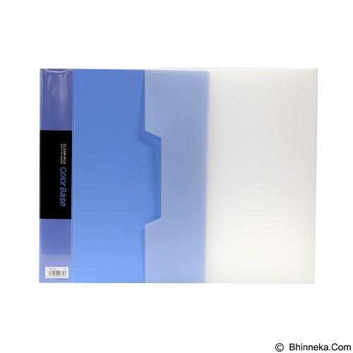 KING JIM Clear File Color Base 132-5C 100 - Blue - Map Plastik
