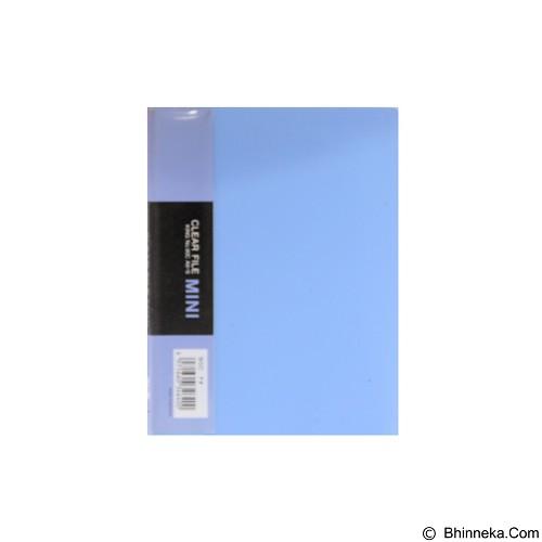 KING JIM Clear File Mini 12 Pockets [90C] - Blue - Expandable Folder