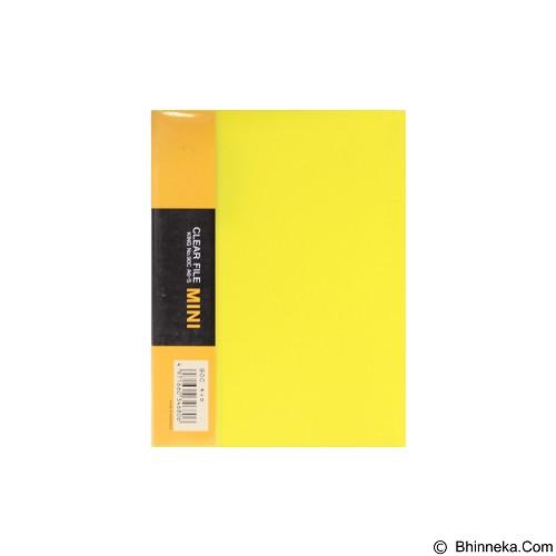 KING JIM Clear File Mini 12 Pockets 90C - Yellow - Map Plastik