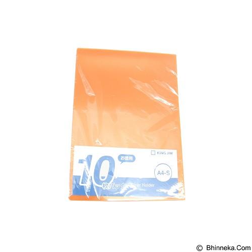 KING JIM Clear Holder A4 10Pcs [737-50] A4 - Orange - Expandable Folder