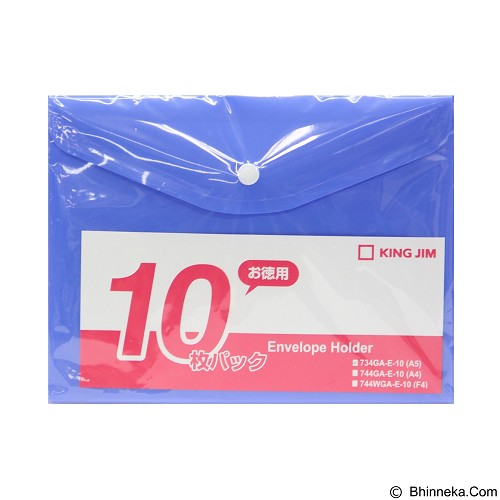 KING JIM Envelope Holder [E 734Ga-E A5/10] - Blue - Map Plastik
