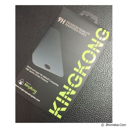 KINGKONG Tempered Glass Screen Protector for iPhone 6 Carbon - Black - Screen Protector Handphone