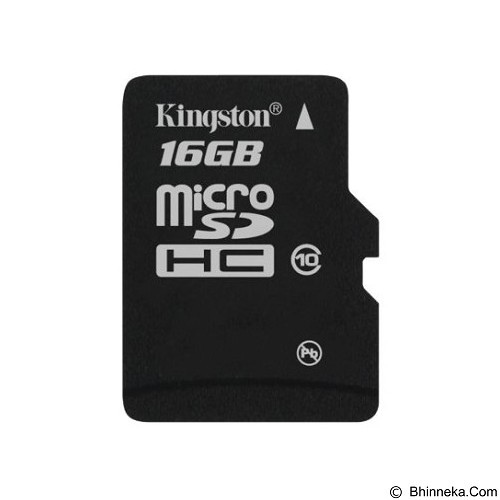 KINGSTON MicroSDHC 16GB Class 10 [SDC10/16GBSP] - Micro Secure Digital / Micro Sd Card