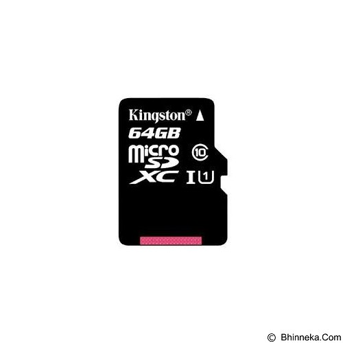 KINGSTON MicroSDXC 64GB Class 10 [SDC10G2/64GBFR] - Micro Secure Digital / Micro Sd Card