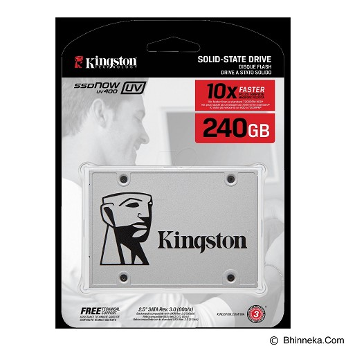 KINGSTON SSD Now UV400 Series 240GB [SUV400S37/240G] (Merchant) - Ssd Sata 2.5 Inch