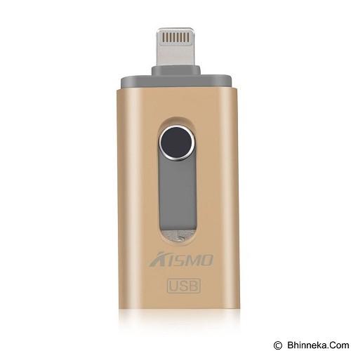KISMO OTG iPhone 3in1 iOS Android Computer Aluminium Flashdrive 32GB - Gold (Merchant) - Usb Flash Disk Dual Drive / Otg
