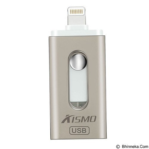 KISMO OTG iPhone 3in1 iOS Android Computer Aluminium Flashdrive 64GB - Silver (Merchant) - Usb Flash Disk Dual Drive / Otg
