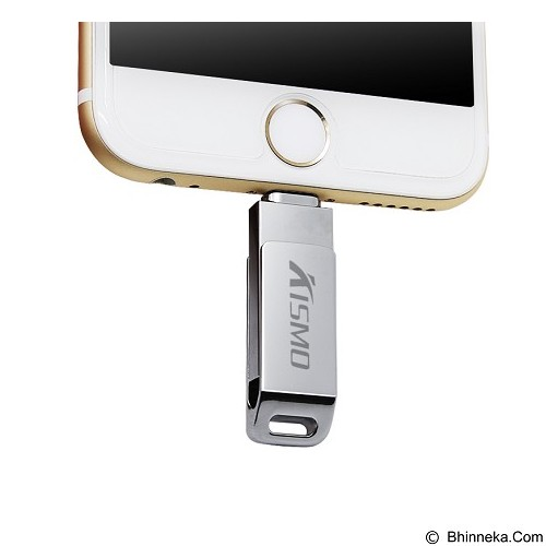KISMO OTG iPhone Computer 2in1 Flashdisk Steel Body 64GB (Merchant) - Usb Flash Disk Dual Drive / Otg