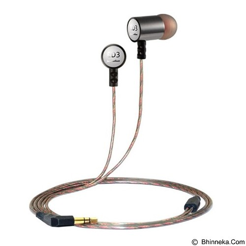 KNOWLEDGE ZENITH HiFi Tri-band Balanced In Ear Earphones 3.5mm [KZ-ED3] - Silver - Earphone Ear Monitor / IEM