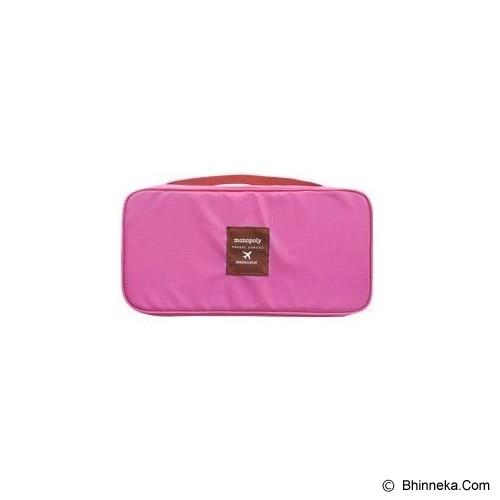 KOREAN BAG-TOKO BAGUS INDO Korean Foldable Multifunction Pouch Organizer - Blush Pink - Travel Bag