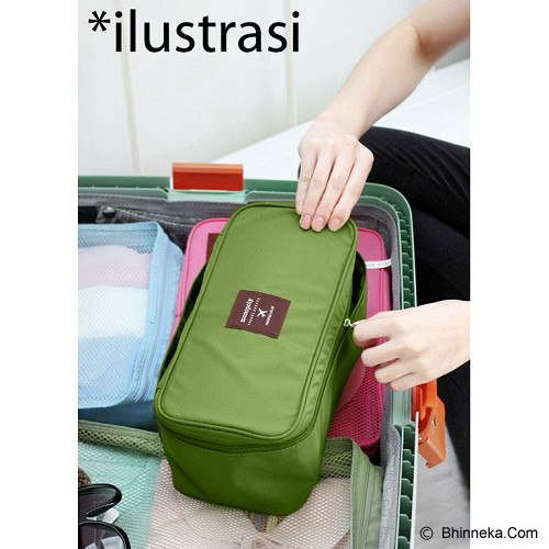 KOREAN BAG-TOKO BAGUS INDO Korean Foldable Multifunction Pouch Organizer - Green - Travel Bag