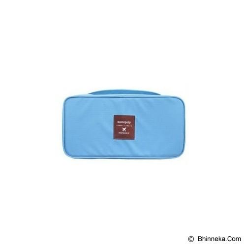 KOREAN BAG-TOKO BAGUS INDO Korean Foldable Multifunction Pouch Organizer - Milky Sky - Travel Bag