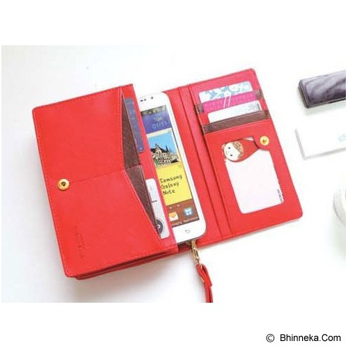 KOREAN BAG-TOKO BAGUS INDO Korean Smart Fancy Bag - Red - Dompet Wanita