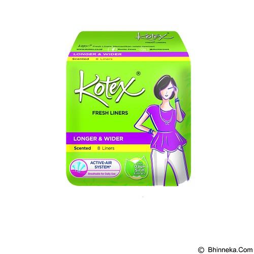 KOTEX Fresh Liner Longer & Wider Betel Leaf 8Pcs - Pembalut Wanita