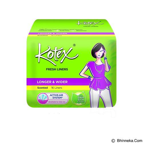 KOTEX Fresh Liner Longer & Wider Scented 16Pcs - Pembalut Wanita