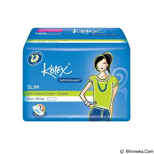 KOTEX Soft & Smooth Slim Non Wing 10Pcs - Pembalut Wanita