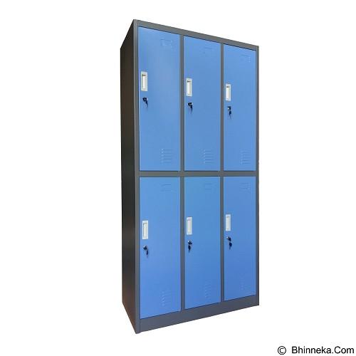 KOZURE Locker [KL-6W] - Blue - Filing Cabinet / Lemari Arsip