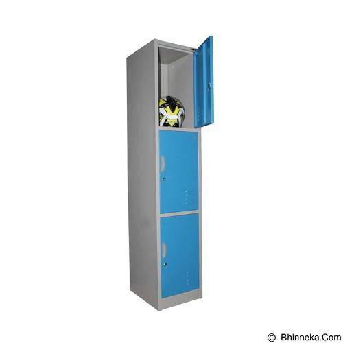 KOZURE Locker [KL-3] - Blue - Filing Cabinet / Lemari Arsip