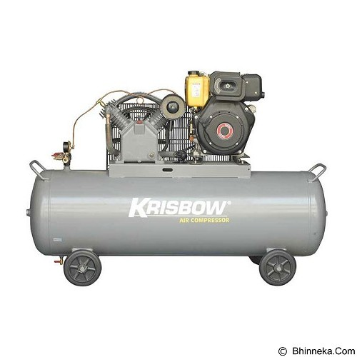KRISBOW Air Compressor 5.5HP 340L 12BAR Diesel [10050368] - Kompresor Angin