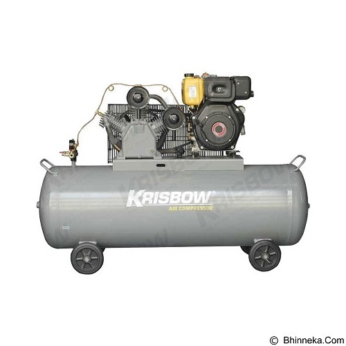 KRISBOW Air Compressor 7.5HP 420L 12BAR Diesel [10050369] - Kompresor Angin