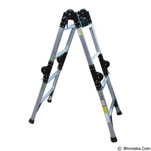 KRISBOW Ladder Adjustable 3.8 Mtr 4x3 Alumunium [KW0100605] - Tangga