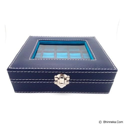 KUALITAS SUPER Box Cincin Batu Akik Kaca - Biru Biru - Jewelry Organizer