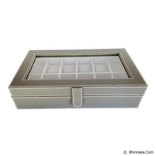 KUALITAS SUPER Kotak Jam Tangan Isi 12 Box Jam Tangan - Black Grey - Jewelry Organizer