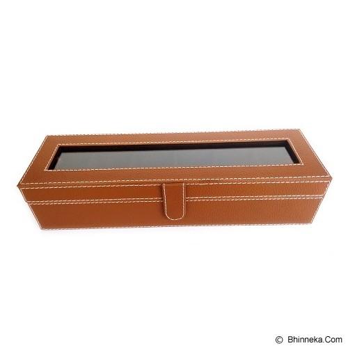 KUALITAS SUPER Kotak Jam Tangan Isi 6 Box Jam Tangan - Brown - Jewelry Organizer