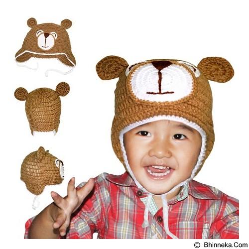 KUPRA Kupluk Rajut Bear Size S - Brown (Merchant) - Topi & Aksesoris Bayi dan Anak