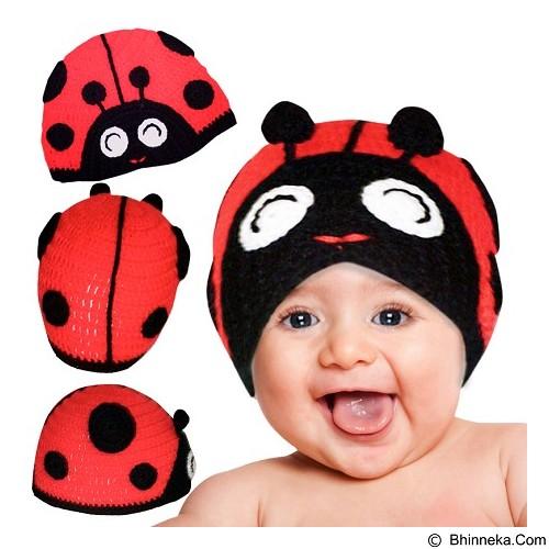 KUPRA Kupluk Rajut Lady Bug Size S - Red (Merchant) - Topi & Aksesoris Bayi dan Anak